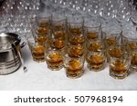 glasses with an alcoholic drink ... | Shutterstock . vector #507968194