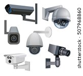 security cameras. security... | Shutterstock .eps vector #507968860