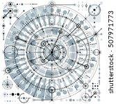 architectural blueprint  vector ... | Shutterstock .eps vector #507971773