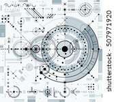 architectural blueprint  vector ... | Shutterstock .eps vector #507971920