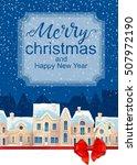 winter cityscape. christmas... | Shutterstock . vector #507972190