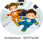 illustration of chubby... | Shutterstock .eps vector #507976144