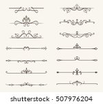 vector set of decorative... | Shutterstock .eps vector #507976204