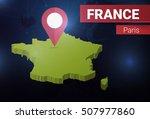 news background for  france ... | Shutterstock .eps vector #507977860