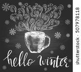 hello winter. seasonal template ... | Shutterstock .eps vector #507978118