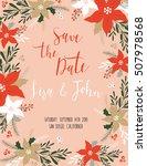 vintage wedding invitation with ... | Shutterstock .eps vector #507978568
