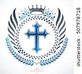 heraldic coat of arms  vintage... | Shutterstock .eps vector #507978718