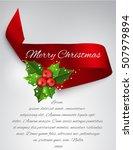 elegance realistic satin ribbon ... | Shutterstock .eps vector #507979894