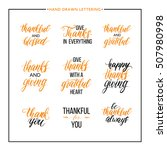 thanksgiving text set   be... | Shutterstock .eps vector #507980998