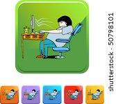 computer addiction | Shutterstock .eps vector #50798101