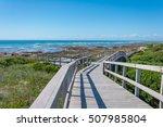 beachwalk in port elisabeth in... | Shutterstock . vector #507985804