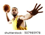 basketball player in action... | Shutterstock . vector #507985978