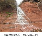 slow waterfall at blomidon... | Shutterstock . vector #507986854