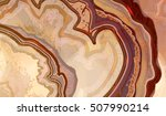 cross section of agate crystal  ... | Shutterstock .eps vector #507990214