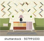 furniture design. interior.... | Shutterstock .eps vector #507991033