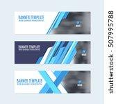 flat style blue website banner  ... | Shutterstock .eps vector #507995788