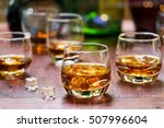 whiskey drinks with ice on... | Shutterstock . vector #507996604