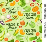 veggie lover elements  ... | Shutterstock .eps vector #508000210