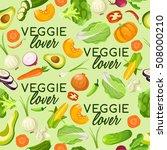 veggie lover elements  ... | Shutterstock .eps vector #508000210