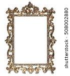 antique carved rectangular... | Shutterstock . vector #508002880