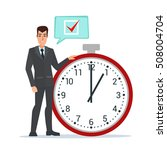businessman think on task list  ... | Shutterstock .eps vector #508004704