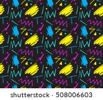 seamless hand drawn pattern in... | Shutterstock . vector #508006603