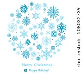 christmas ball made from... | Shutterstock .eps vector #508032739