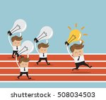 businessman running on race... | Shutterstock .eps vector #508034503