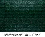 matrix background with green... | Shutterstock .eps vector #508041454