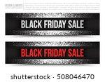black friday sale vector web... | Shutterstock .eps vector #508046470