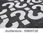 question mark signs painted on... | Shutterstock . vector #50804728