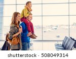 funny family trip. side view of ... | Shutterstock . vector #508049314