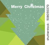 christmas card with christmas... | Shutterstock .eps vector #508050370