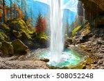 Pericnik Waterfall In Slovenia...