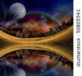 surreal city | Shutterstock . vector #50805541