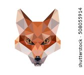 polygonal animal fox head...   Shutterstock .eps vector #508055914