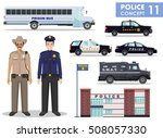 police concept. detailed... | Shutterstock .eps vector #508057330