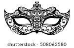 beautiful mask of lace. mardi... | Shutterstock .eps vector #508062580