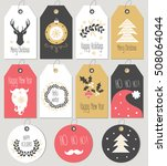 set merry christmas and new... | Shutterstock .eps vector #508064044