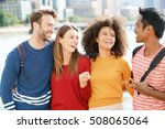 group of students in new york... | Shutterstock . vector #508065064