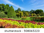 nice sunny day in city park ... | Shutterstock . vector #508065223
