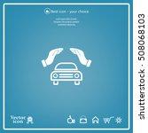 car insurance web icon. vector...   Shutterstock .eps vector #508068103