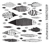 vector set of funny doodle...   Shutterstock .eps vector #508070209