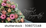 Sympathy Text Card With Flower...