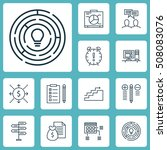 set of project management icons ... | Shutterstock .eps vector #508083076