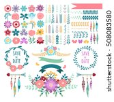 templates for greeting cards... | Shutterstock .eps vector #508083580