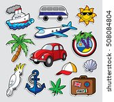 fashion patch badges in 80s 90s ... | Shutterstock .eps vector #508084804