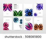 geometric background template... | Shutterstock .eps vector #508085800