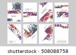 geometric background template... | Shutterstock .eps vector #508088758