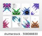 geometric background template... | Shutterstock .eps vector #508088830